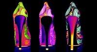 Неоновые туфли - необычный выбор для дискотеки