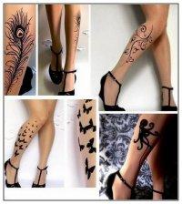 Татуировка на чулках