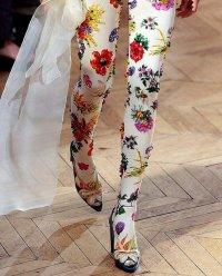 Колготки с цветочным принтом