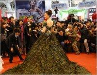 Свадебное платье из павлина
