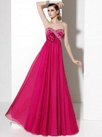Оригинальное платье на выпускной: королевский розовый