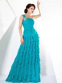 Выпускное платье с асимметричным верхом