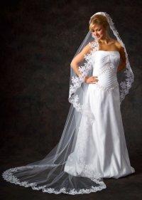 Свадебная фата - важный элемент свадебного наряда