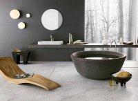 Круглая ванна - смелое дизайнерское решение