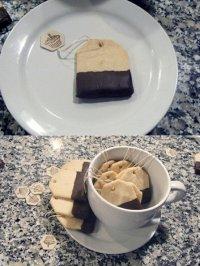 Песочное печенье «Чайные пакетики»