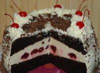 Вишневый торт на скорую руку
