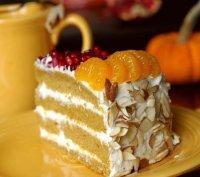 Мандариновый торт из мюсли
