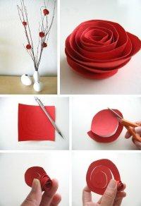 Бумажные цветы: роза