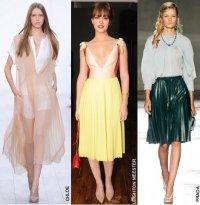Плиссировка - модный тренд 2012