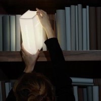 Книга-лампа: изюминка интерьера домашней  библиотеки