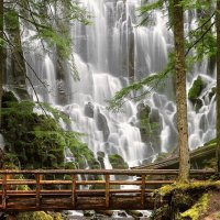 Водопад Рамона, Маунт Худ, Орегон, США