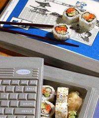 Коробка для обеда в виде ноутбука
