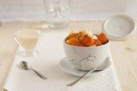 Сезонные овощи, запеченные в духовке с легким соусом