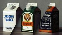 Алкоголь в молочных упаковках