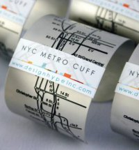 Браслет NYC Metro Cuff - схема метро всегда на руке