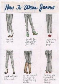 Как правильно носить джинсы?