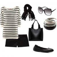Черно-белый нескучный наряд для лета