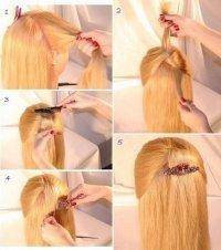 Узелок из волос - простая прическа на длинные и средние волосы