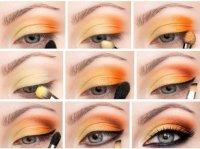 Яркий макияж в оранжевой цветовой гамме