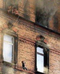 Пожар. Спасение малыша