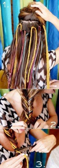 Яркая коса для лета