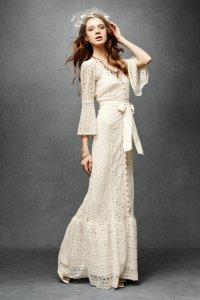 Кружевное свадебное платье от Трейси Риз