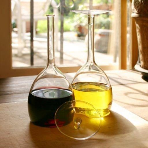 Бутылочки-бокалы для масла и уксуса