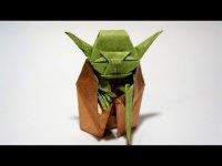 Магистр Йода в технике оригами