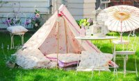 Романтическая палатка своими руками