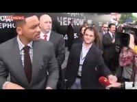 Скандальное видео: журналист Виталий Сердюк целует Уилла Смитта