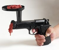 Пистолет, который стреляет мясом