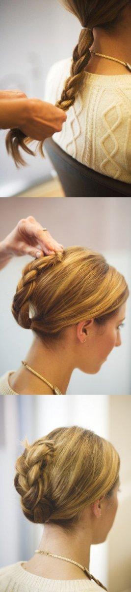 Прическа для длинных волос за 5 минут