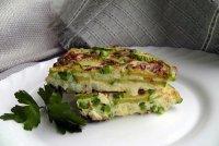 Фритатта с зеленым горошком