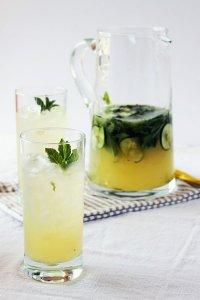 Мятный лимонад с огурцом