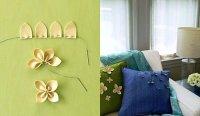 Цветы из фетра для декора подушек