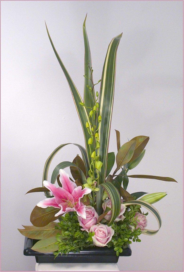 Цветы в японских букетах фотографии