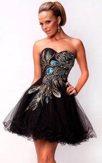 Короткое платье на выпускной 2012