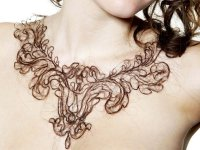 Колье из натуральных волос