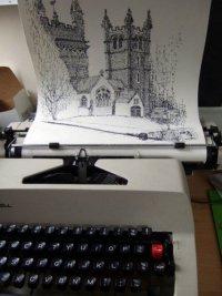 Рисунки с помощью пишущей машинки