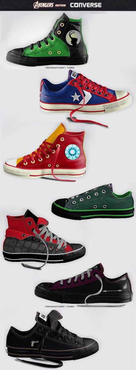 Кеды Converse в стиле «Мстителей»