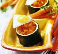 Цукини с перепелиными яйцами