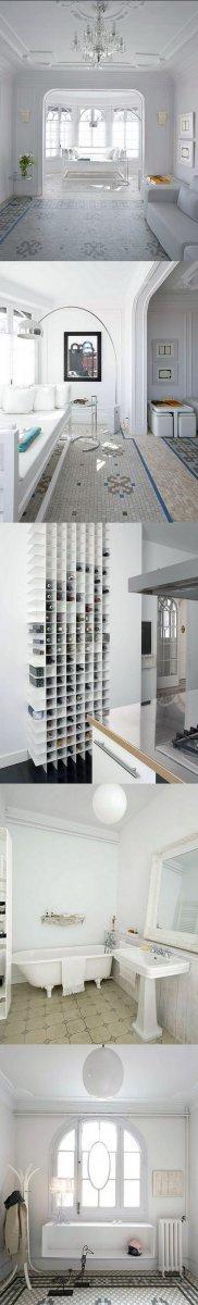 Белая квартира в Барселоне