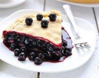 Венский пирог с черной смородиной