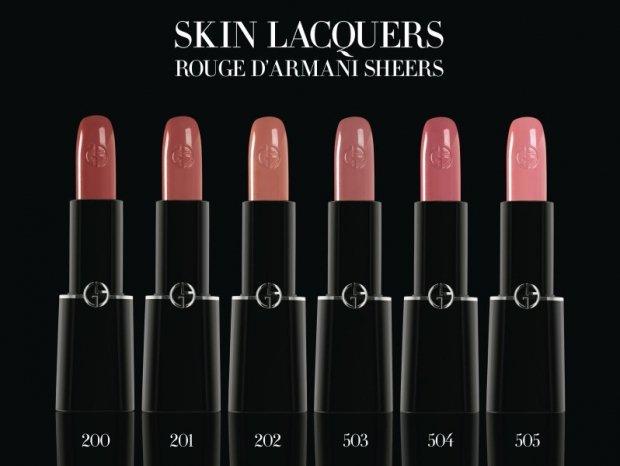 Губные помады Skin Lacquers от Giorgio Armani