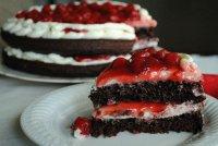 Вишневый сливочный торт