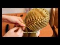 Прическа с элементами плетения «Августа». Видеоурок.