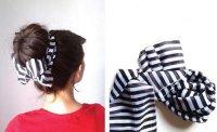 Пучок из волос с шарфиком