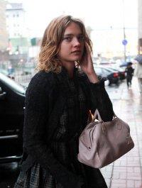 Наталья Водянова в трауре