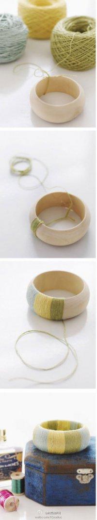 Красивый браслет своими руками с нитками. Фотоурок.
