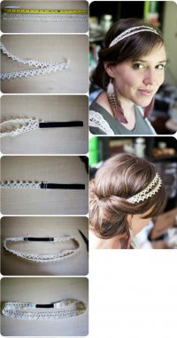 Кружевная повязка для волос своими руками. Фотоурок